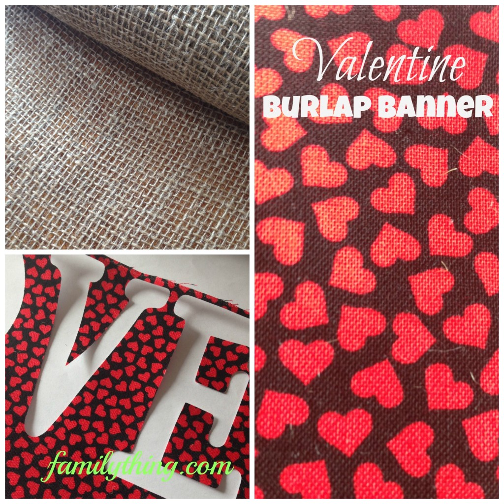 valentine burlap banner