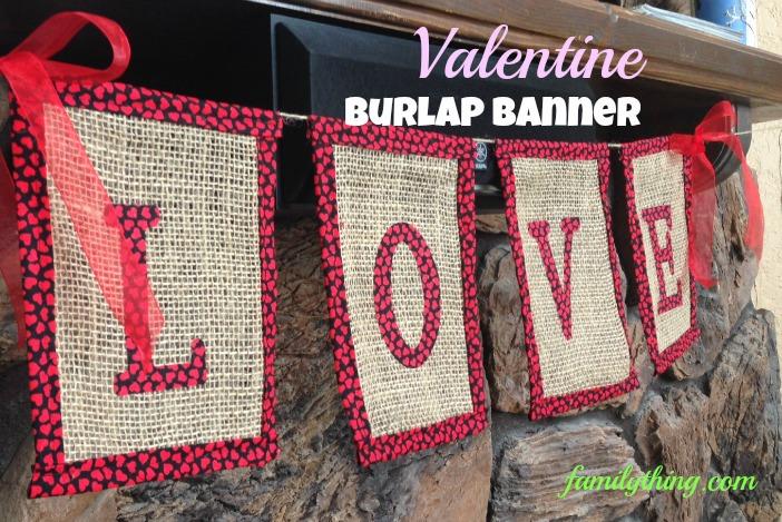 valentine burlap banner 2